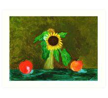 Piet's Sunflower in a Vase Art Print