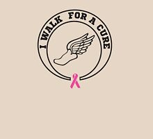 I walk for a cure ribbon Womens Fitted T-Shirt