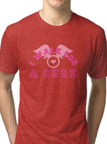 I walk for a cure wings Tri-blend T-Shirt