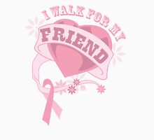 I walk for my friend heart Womens Fitted T-Shirt