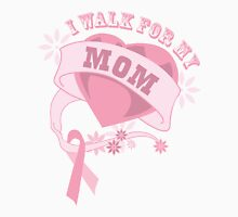 I walk for my mom heart Womens Fitted T-Shirt