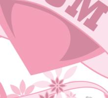 I walk for my mom heart Sticker