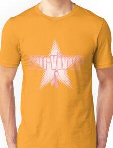 Breast Cancer Survivor Star Unisex T-Shirt