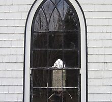 Orwell Corner Church Window, Prince Edward Island by John Whitaker
