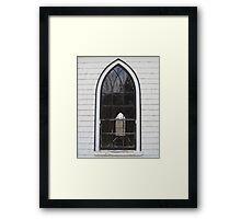 Orwell Corner Church Window, Prince Edward Island Framed Print