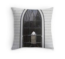 Orwell Corner Church Window, Prince Edward Island Throw Pillow
