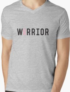 Warrior Pink Ribbon Mens V-Neck T-Shirt