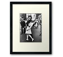Times Square V/J-Day Kiss Framed Print