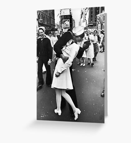 Times Square V/J-Day Kiss Greeting Card