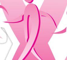 Breast Cancer Ribbon Walkers Sticker