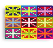 Flag United Kingdom Andy Warhol Pop Art Canvas Print