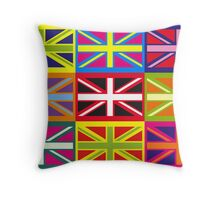 Flag United Kingdom Andy Warhol Pop Art Throw Pillow