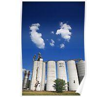 Illinois Grain Silos Poster