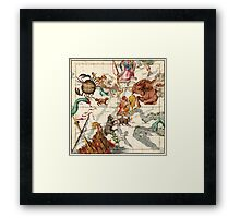 Gemini, Orion, Cancer, Taurus, Canis Major, Canis Minor And Other Constellations Framed Print