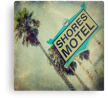 Shores Motel and Palms  Metal Print