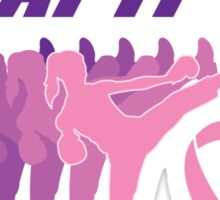 I beat breast cancer.  Sticker