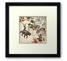 Ursa Major, Ursa Minor, Perseus, Hercules, Cassiopea, Andromeda And Other Constellations Framed Print