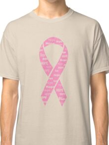Hope Breast Cancer Ribbon Classic T-Shirt