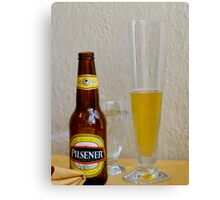 Pilsener Beer Canvas Print