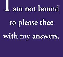 Shakespeare's Wisdom by BB83