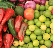 Peppers Limes and Tomatoes by rhamm