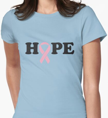 Hope. Breast Cancer Womens Fitted T-Shirt