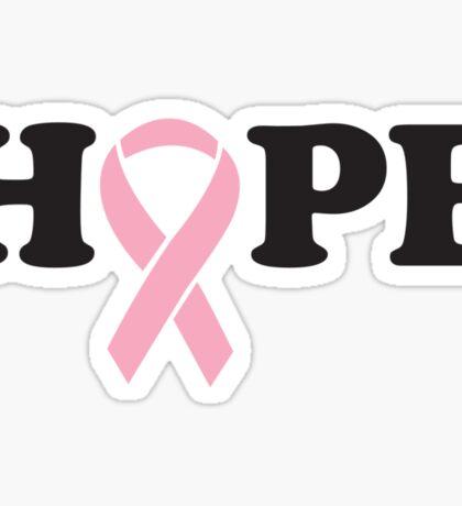 Hope. Breast Cancer Sticker