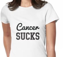 Cancer Sucks Womens Fitted T-Shirt