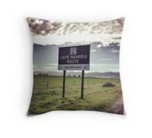 Cape to Namibia route Throw Pillow