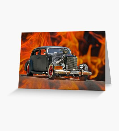 1938 Cadillac 'Lucifer's Limo' Greeting Card