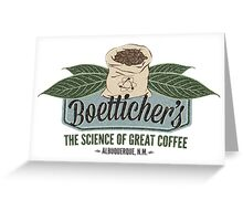 Breaking Bad Inspired - Gale Boetticher's Fair Trade Cafe - Best Coffee in Albuquerque Greeting Card