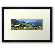 Cows above Wengen Framed Print