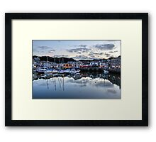 Dusk Over a Cornish Harbour Framed Print