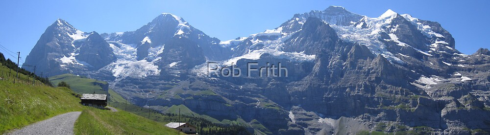 Eiger, Monch, and Jungfrau by Rob Frith