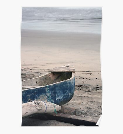 Fishing Boat on the Beach Poster
