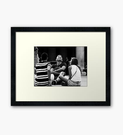 Couldn't care less ! Framed Print