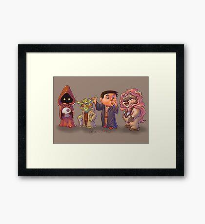 The Star Wars Cute Pack! Framed Print