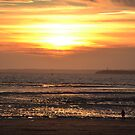 Sunset at Weston Super Mare by Prettyinpinks