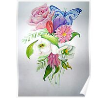 Flower study Poster