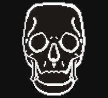 Pixel Skull Black One Piece - Short Sleeve