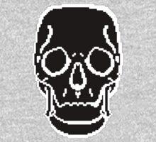 Pixel Skull Black Kids Clothes