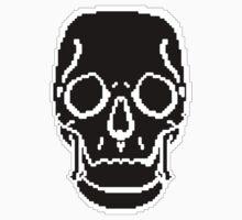 Pixel Skull Black Baby Tee