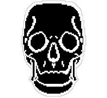 Pixel Skull Black Photographic Print