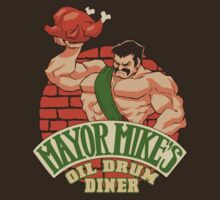 Mayor Mike's Oil Drum Diner by coinbox tees