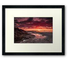 """Once Upon A Sunset"" Framed Print"