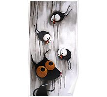 Stressie Cat and the crows Poster