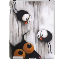 Stressie Cat and the crows iPad Case/Skin