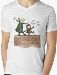 Legolas & Gimli Mens V-Neck T-Shirt