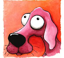 The Pink Dog Photographic Print