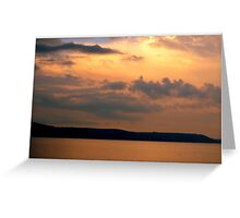 Dusk at Looe, Cornwall Greeting Card